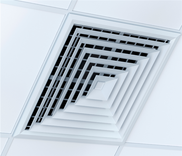 White heating vent
